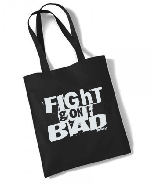 Go Heavy Fight Gone Bad - Gym Jutebeutel - schwarz