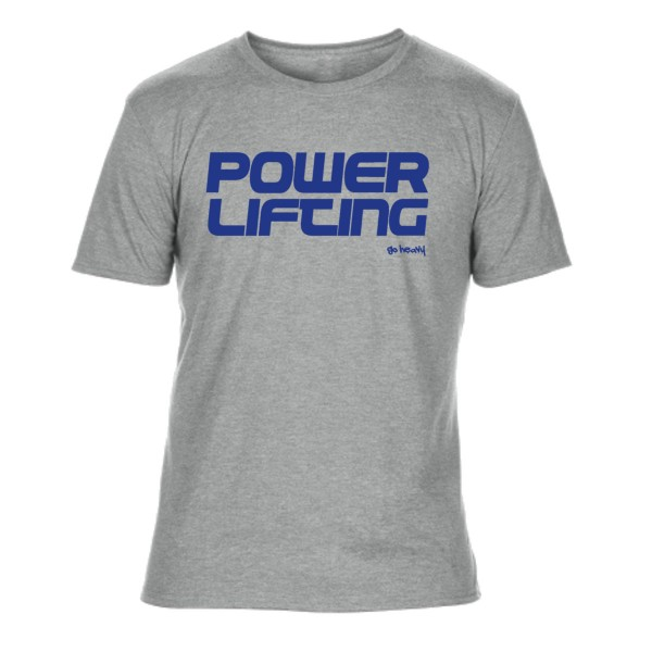 Go Heavy Powerlifting - Herren Tri-Blend Shirt - grau