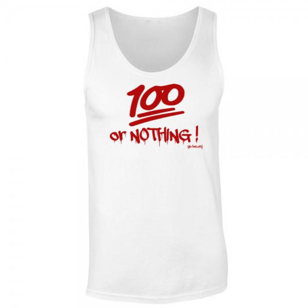 Go Heavy Herren Tank - 100% or Nothing! - weiß