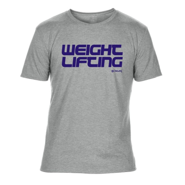 Go Heavy Weightlifting - Herren Tri-Blend Shirt - garu