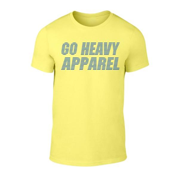 Go Heavy Herren Shirt - Stripes - gelb
