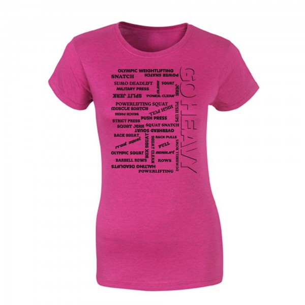 Go Heavy Damen Shirt - All The Pain - heather pink
