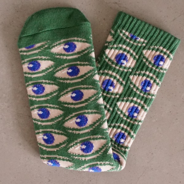 Toy-Machine Socks - Multi Eye - grün