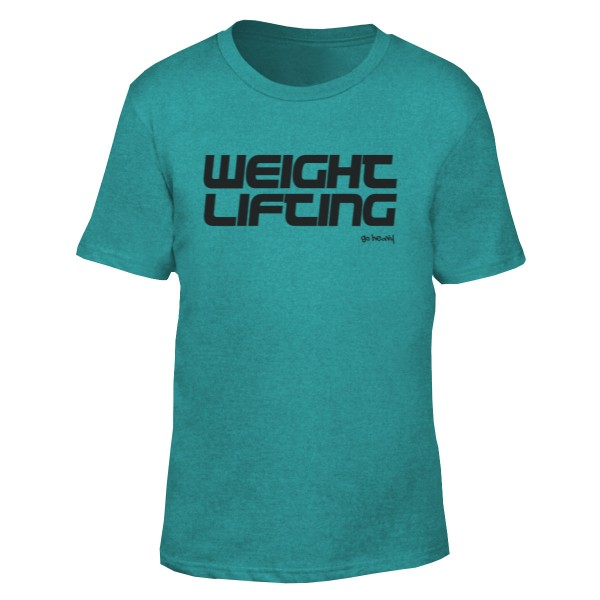 Go Heavy Weightlifting- Herren Shirt - heather green
