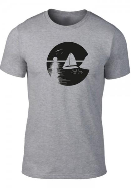 Segeljungs Herren Shirt - Sunset - grau