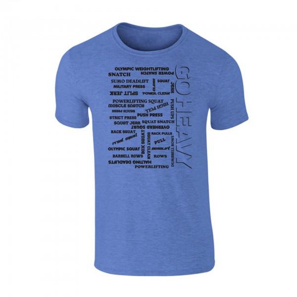 Go Heavy Herren Shirt -  All The Pain - heather blue