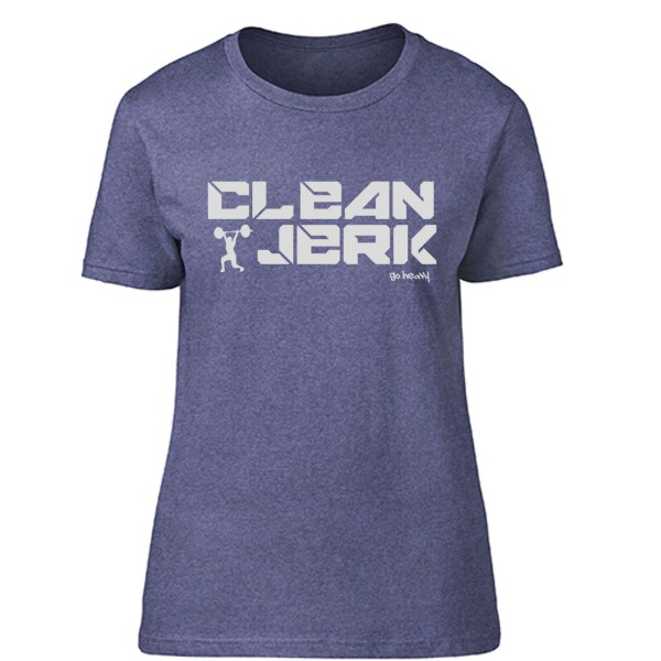 Go Heavy Clean & Jerk - Damen Shirt - heather blue