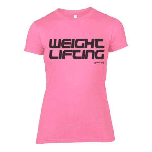 Go Heavy Weightlifting- Damen Shirt - rosa