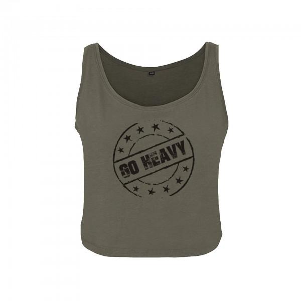 Go Heavy Stamp - Damen oversized Tanktop - grün