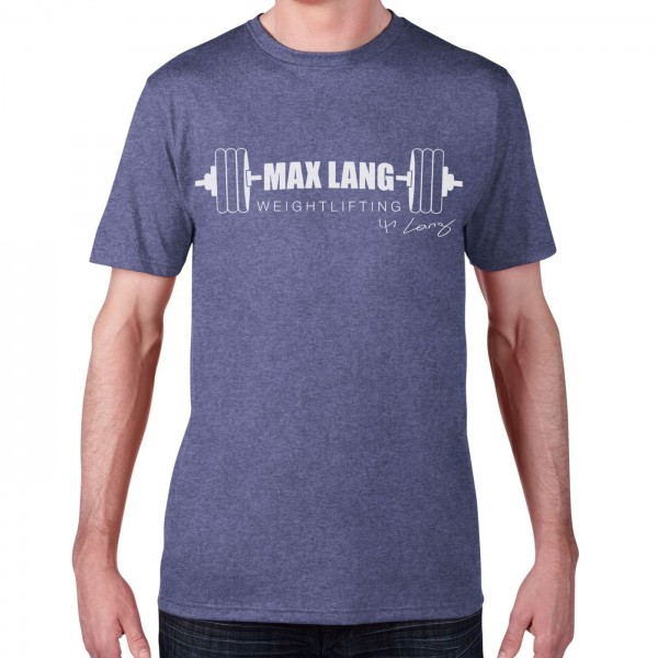 Max Lang Weightlifting Herren Shirt - heather blue