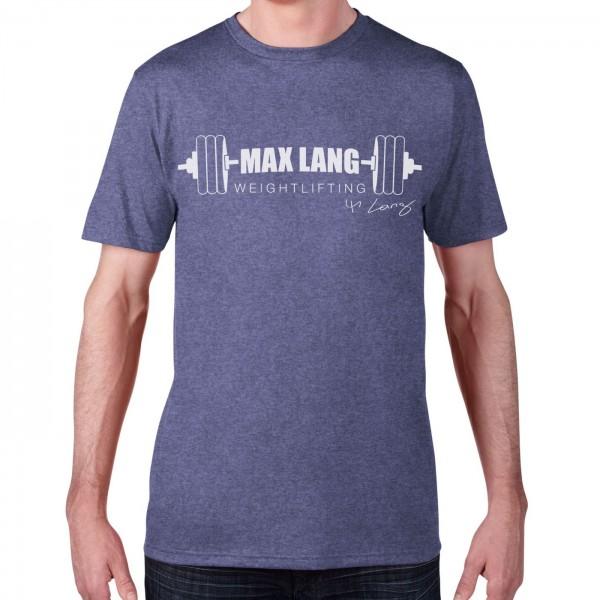 Max Lang Weightlifting Herren Shirt - heather blue
