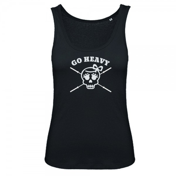 Go Heavy Girly Skull Damen Tank Top - schwarz
