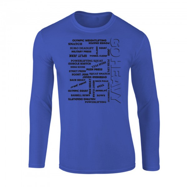 Go Heavy Herren Longsleeve - All The Pain - blau
