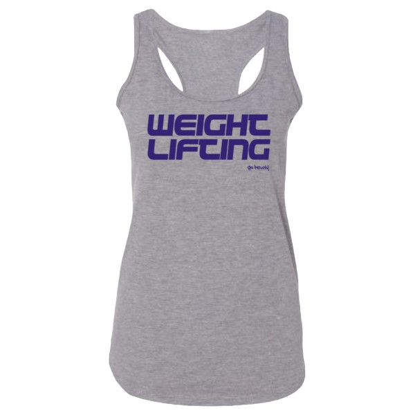 Go Heavy Weightlifting Damen Tri-Blend Tank Top - grau