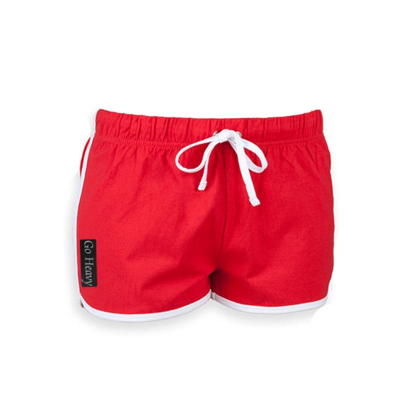 Go Heavy Damen Retro Shorts - rot