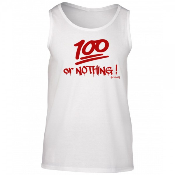 Go Heavy Herren Muskelshirt - 100% or Nothing!