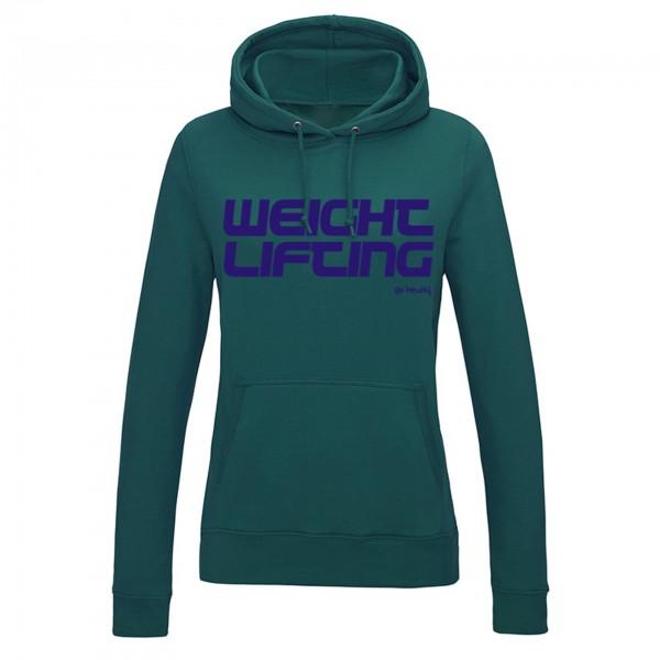 Go Heavy Weightlifting - Damen Hoodie - grün