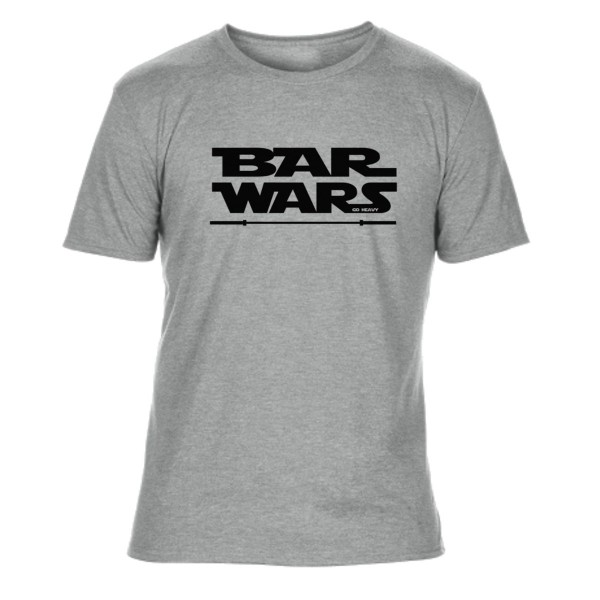 Go Heavy Bar Wars - Herren Tri-Blend Shirt - grau