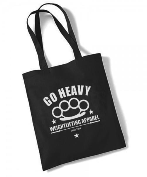 Go Heavy - Gym Jutebeutel - schwarz