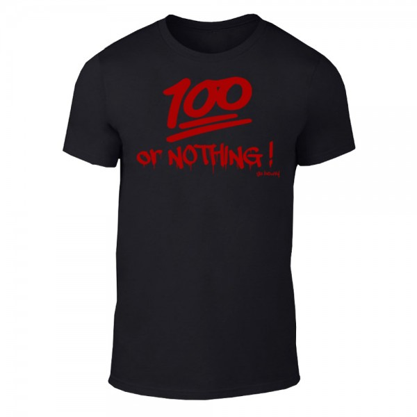 Go Heavy 100 or NOTHING! - Herren Shirt - schwarz