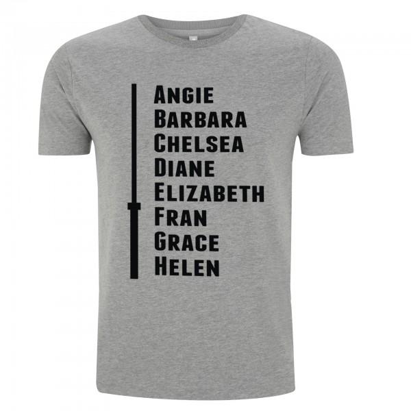 Go Heavy The CrossFit Girls:Angie,Babara... - Herren Shirt - grau