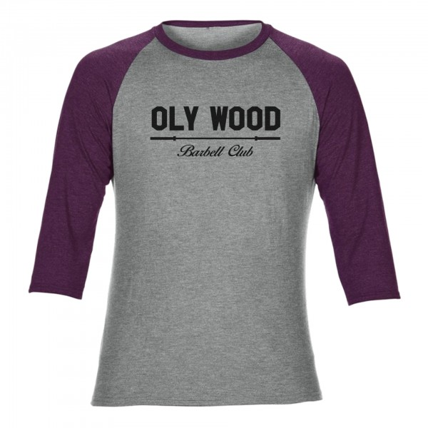 Go Heavy Oly Wood - Vintage Baseball Shirt -grau/violett
