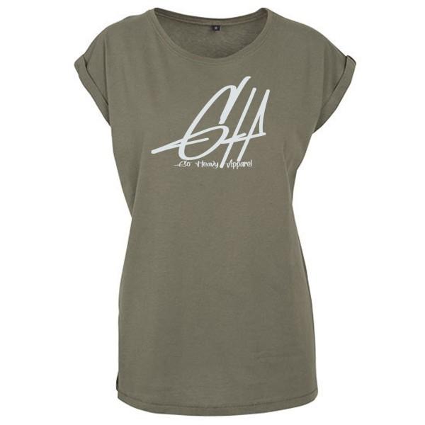 Go Heavy Damen Shirt - Graphic - oliv