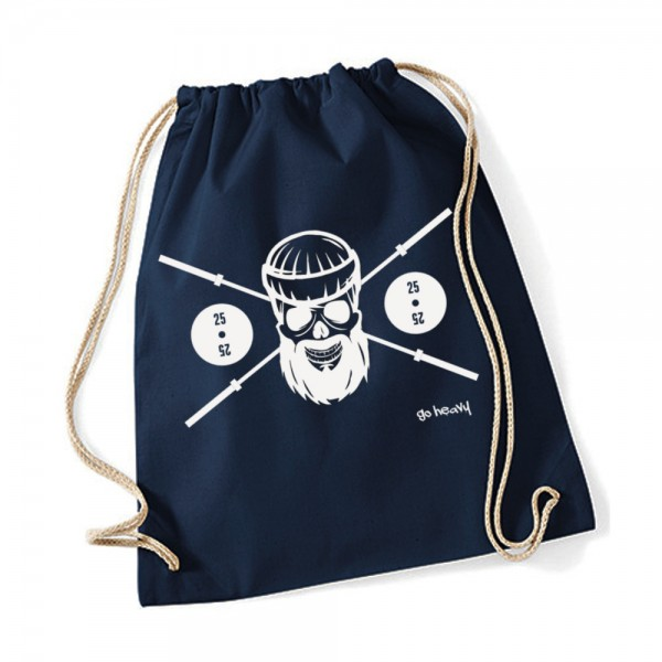 Go Heavy Barbell Skull Gym Bag - dunkelblau