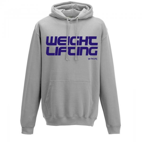 Go Heavy Weightlifting - Herren Hoodie - grau