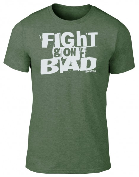 Go Heavy Herren Shirt - Fight Gone Bad - heather green