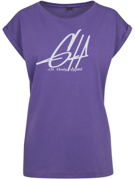 Losse-Fit Damen Fitness Shirt - Graphic - violett