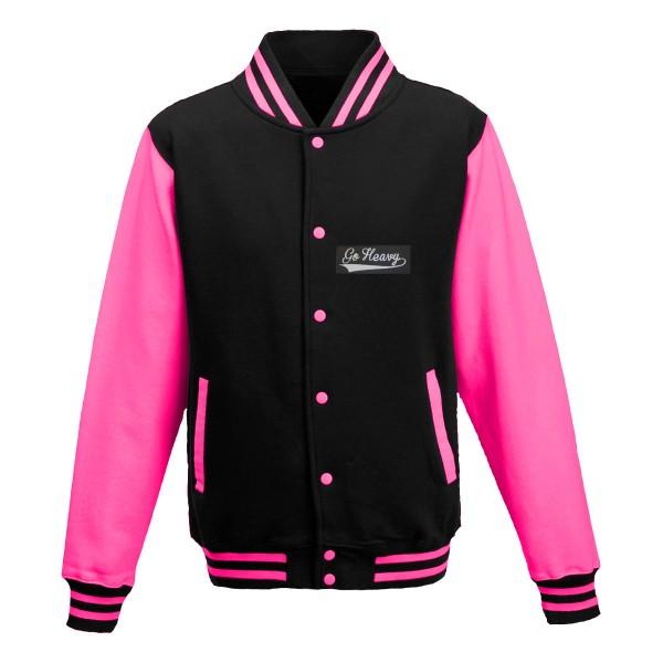 Go Heavy Damen College Jacke - schwarz/pink