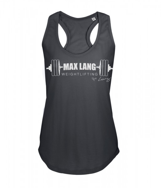 Max Lang Weightlifting Damen Racerback Top - dark grey