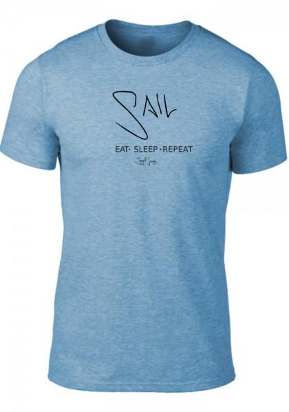 Segeljungs Herren Shirt - Eat Sleep Repeat - heather blue