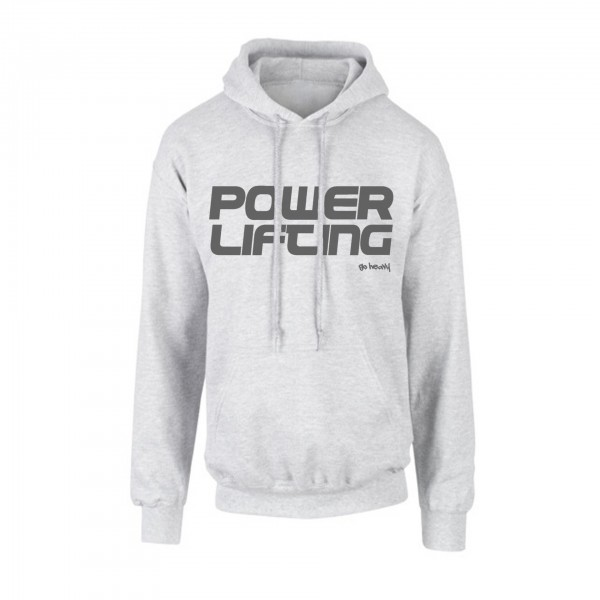 finest selection bb2b1 eac8a Go Heavy Powerlifting - Herren Hoodie - grau