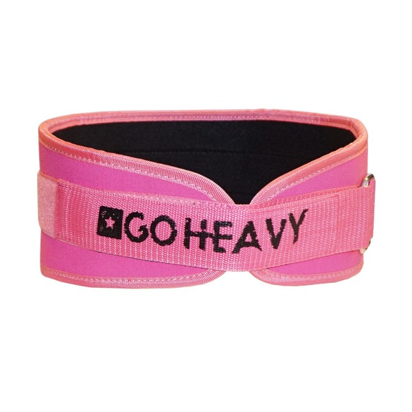 Go Heavy - Gewichthebergürtel - rosa