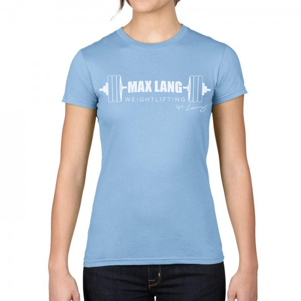 Max Lang Weightlifting Damen Shirt - light blue