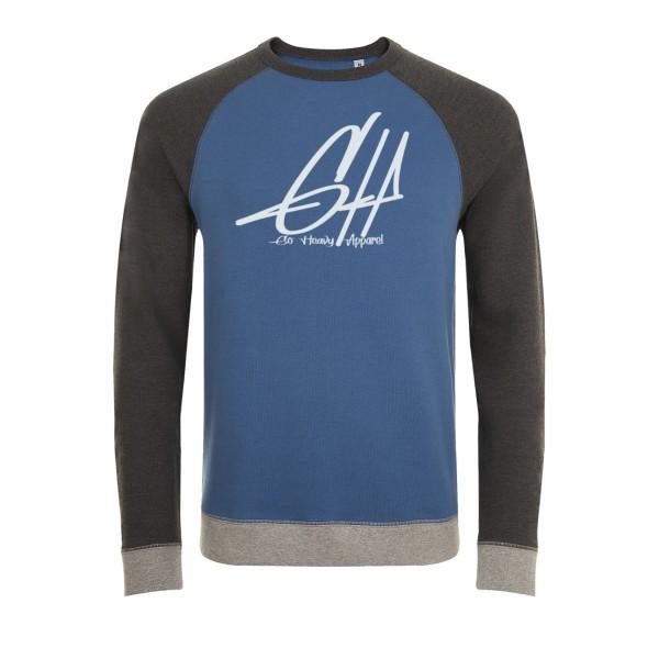 Go Heavy Herren Sewatshirt - Graphic - blau/grau/hellgrau
