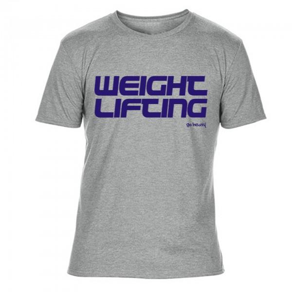 Go Heavy Weightlifting - Herren Tri-Blend Shirt - garu