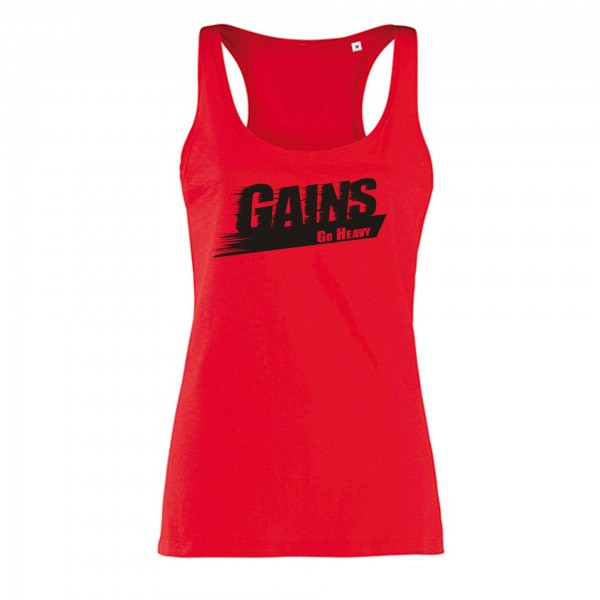 Go Heavy Damen Tank Top - Gains - rot