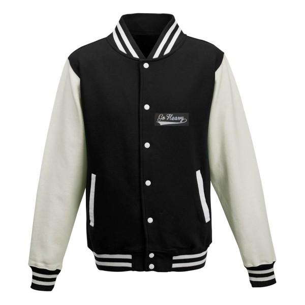 Go Heavy Herren College Jacke - schwarz/weiß