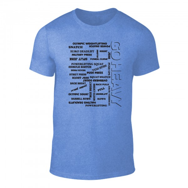 Go Heavy Herren Shirt -  All The Pain - heather blue