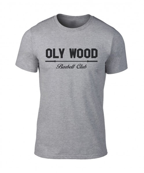 Go Heavy Oly Wood Barbell Club – Herren Shirt – grau