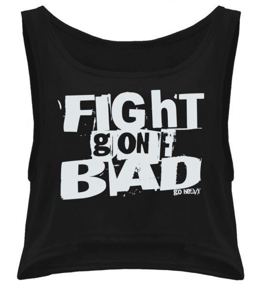 Go Heavy Damen oversized Tanktop - Fight Gone Bad schwarz
