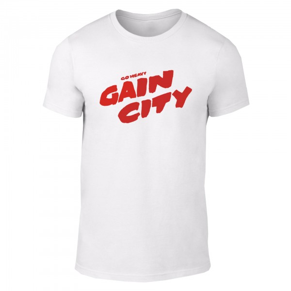 Go Heavy Gain City - Herren Shirt - weiß