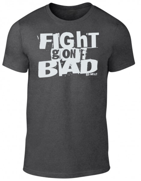 Go Heavy Herren Shirt - Fight Gone Bad - heather grey