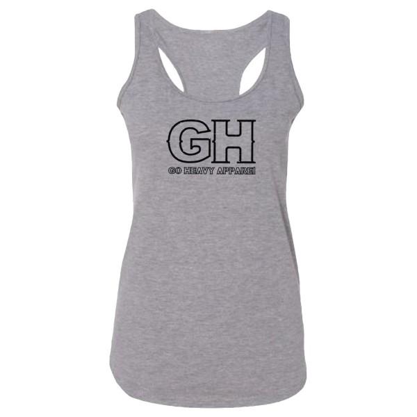 Go Heavy Damen Tri-Blend Top - GH - grau