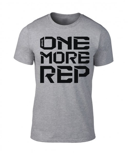 Go Heavy One More Rep - Herren Shirt - grau