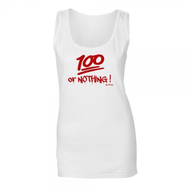 Go Heavy 100% or NOTHING! - Damen Tank Top - weiß