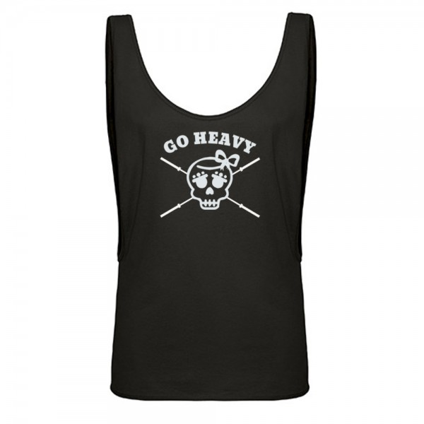 Go Heavy Girly Skull Top - schwarz